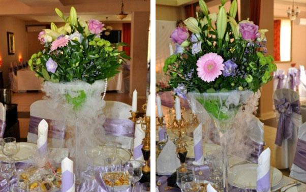 Decoratiuni florale cu gheata carbonica